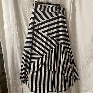 Torrid High Low Piece Striped Maxi Skirt-Size 1